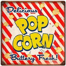 Vintage Retro Movie Cinema Theater Popcorn Metal Sign Unique Gameroom RPC176