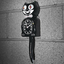 "Classic Black JEWELED FULL SIZE 15.5"" Official Kit Cat Clock Kat Klock BRAND NEW"