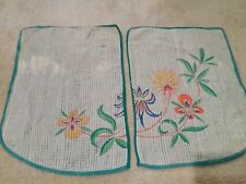 "Vintage 2 pc Table Runner Set Size 13.5"" x 19"" each #138"