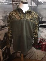 Winchester Mens Large 1/4 Zip Camouflage Pullover Jacket Long Sleeve Olive Green