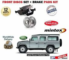 Land Rover Defender 2.5TD TD5 1998-2006 DELANTERO VENTILADOS Disco De Freno Kit Set + Almohadillas