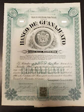 Mexico banco de guanajuato bond aka winston churchill 1906