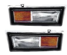 FIT LINCOLN TOWN CAR 1980-1989 SIDE MARKER FRONT REFLECTOR LIGHTS LAMPS PAIR