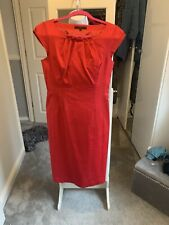 Coast Red Dress Size 12 Fitted Beautiful Sophicated