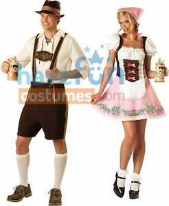 Couples Costumes Adult Bavarian Guy and Fetching Fraulein Lady Beer Octoberfest