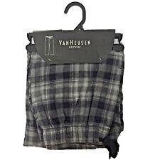 Van Heusen Sleepwear Men's Black/Grey Plaid Flannel Pajama Pants Choose Size