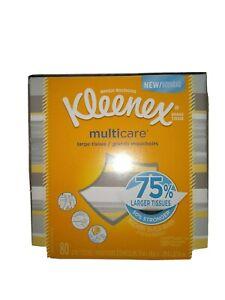 1 Case Of 6 Boxes Kleenex Multicare Facial Tissues, 80 Tissues per Box  🆓 Ship