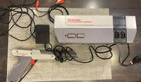 Nintendo Entertainment NES Console + OEM Power Brick Dogbone Controller Recapped
