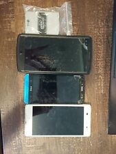 lot of broken android cell phones LG V10 Sony Xperia Z1 HTC *see description