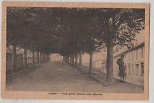 CARTOLINA - 1949 CAVARIA VIALE CARLO CURLONI ALLA STAZIONE 1373/A