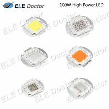 100W watts High Power SMD LED Chip Light Beads White Red Blue Yellow Grow Lamp