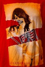 "Ecko Unltd ""Live Unlimited"" Red Pretty Skeleton Girl T-Shirt M Medium"