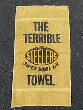RARE VINTAGE TERRIBLE TOWEL PITTSBURGH STEELERS SUPERBOWL 13 1979 ORIGINAL