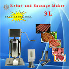 Stainless Steel TV 3L Koobideh Adana Kebab Maker Sausage Salami Filler Machine
