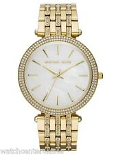 MICHAEL KORS MK3219 Darci Glitz Mother of Pearl Dial Gold Stainless Steel Watch