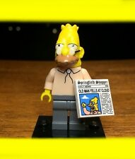 LEGO THE SIMPSONS SERIES 1 GRANDPA w/ NEWSPAPER GENUINE MINIFIGURE SET# 71005