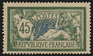 France n°143, Merson 45c vert et bleu, neuf ** sans charnière - TB - COTE 120 €