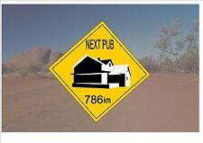 Segnale STRADALE stile australiano Australia Cartello Stradale Novità Pub OUTBACK scherzo sign