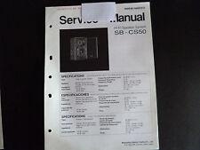 Original Service Manual Technics speaker sistema sb-cs50