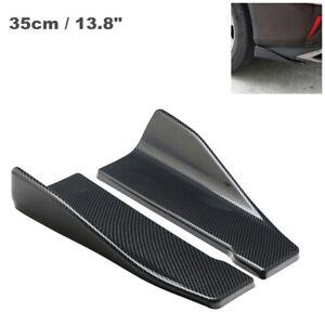 Car 35cm Side Skirt Rear Lip Splitter Diffuser Winglet Wing Carbon Fiber Color