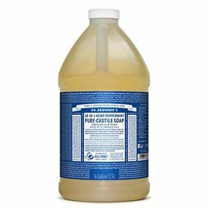 Dr. Bronner's Pure-Castile Liquid Soap (Peppermint 64 oz) Made w/ Organic Oils