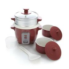 Lorena Garcia Skinny Mini™ Cooker with Steamer and Free Mini Pots, Rio Red