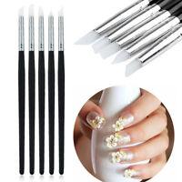 5pcs Dental/Nail Silicone Brush Pen Adhesive Composite Resin Cement Porcelain