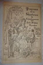 Programm Schauturnen Kaiser Wilhelms Gymnasium Hannover 26.März (um 1890)