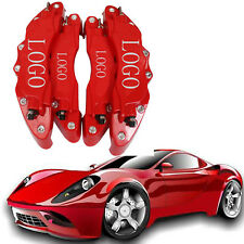 4PCS 3D Brake Caliper Cover Disc Front & Rear large & middle high quality Red
