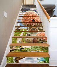 3D  Sky mushroom 353 Risers Decoration Photo Mural Vinyl Decal Wallpaper US