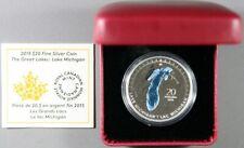 2015 Canadian The Great Lakes: Lake Michigan Silver $20