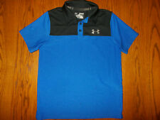 UNDER ARMOUR HEAT GEAR SHORT SLEEVE BLUE LOOSE FIT POLO SHIRT BOYS MEDIUM