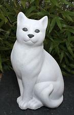Figurine de jardin CHATS sculpture en pierre Décoration IDÉES CADEAUX d'animal
