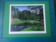 """Tom Watson Autographed  """"16th at Augusta""""  Danny Day Lithograph"""
