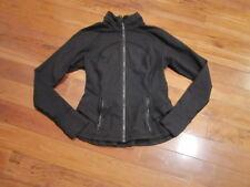 FAB LULULEMON hustle in your bustle jacket in classic black size 8 back ruffle