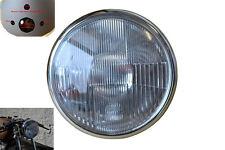 "7 Inch 7"" Black Steel 12V 55W E-marked Motorbike Headlight and Ammeter Housing"