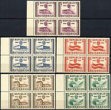 Austria 1955 SG#1269-1273 Re-Establishment Of Republic MNH Blocks Set #D90084