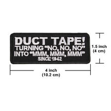 """Funny Words Phrase """"DUCT TAPE!"""" Punk Iron ON Patch for Jean Clothes"""