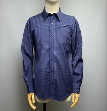 ICEBREAKER Merino Wool Plaid Shirt Size M Men's Blue Checked Long Sleeve Top