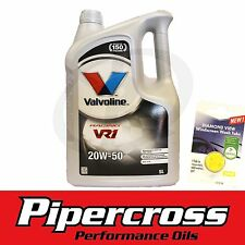 Valvoline VR1 Racing 20W-50 Car Engine Motor Oil 5L + FREE 5L SCREEN WASH TAB