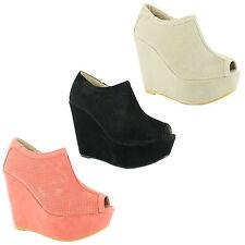 Faux Suede Stiletto Peep Toe Shoes for Women