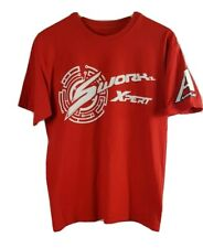 Sworkz Xpert Mens T Shirt Medium Size M Red Short Sleeved Buggy Racing Off Road