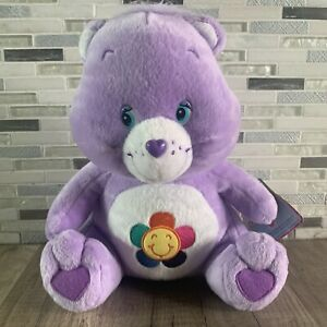 "PURPLE HARMONY CARE BEAR 11"" Plush STUFFED ANIMAL Toy NEW with tag"