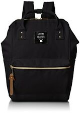 anello AT-B0197B black small backpack with side pockets F/S