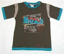 Boys brown blue trail cotton t shirt sz 7 NEW bnwt