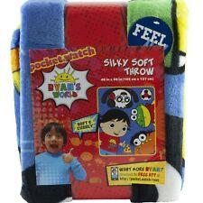 "Ryan's World Toy Review 40"" x 50"" Fleece Plush Throw Blanket Boys"