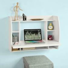 Wall Mounted Table Desk with Storage Shelves and Drawers Home Office Desk Works
