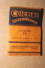 COLEMAN CANADA ORIGINAL PRINT LAMP LANTERN STOVE CATALOG NO. 36 MARCH 1936