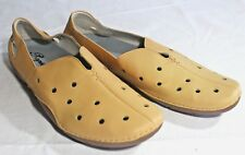 PROPET 10 Soft MAIZE Butterscotch YELLOW LEATHER SHOES Flats Moccasins