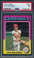 1975 Topps Set Break # 353 Luis Melendez PSA 7 *OBGcards*